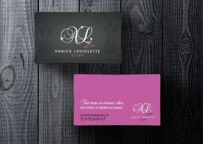 Annick Laviolette - Conception logo et carte professionnelle