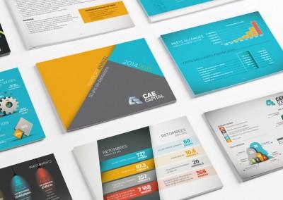 CAE Capital - Conception graphique et mise en page du rapport annuel