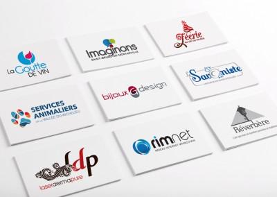 Conception graphique de divers logos