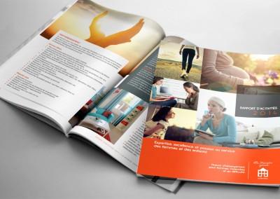 La Maison grise de Montréal - Conception graphique et mise en page du rapport annuel