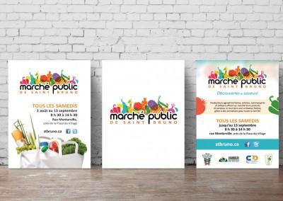 Ville de Saint-Bruno-de-Montarville - Conception de diverses affiches pour le marché public annuel