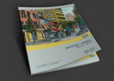 Ordre des urbanistes du Québec - Conception graphique et mise en page du rapport annuel