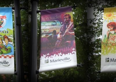 Ville de Marieville - Oriflammes saisonniers